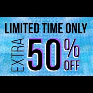 SALE, 50% OFF ANY 3 OR MORE ITEMS!